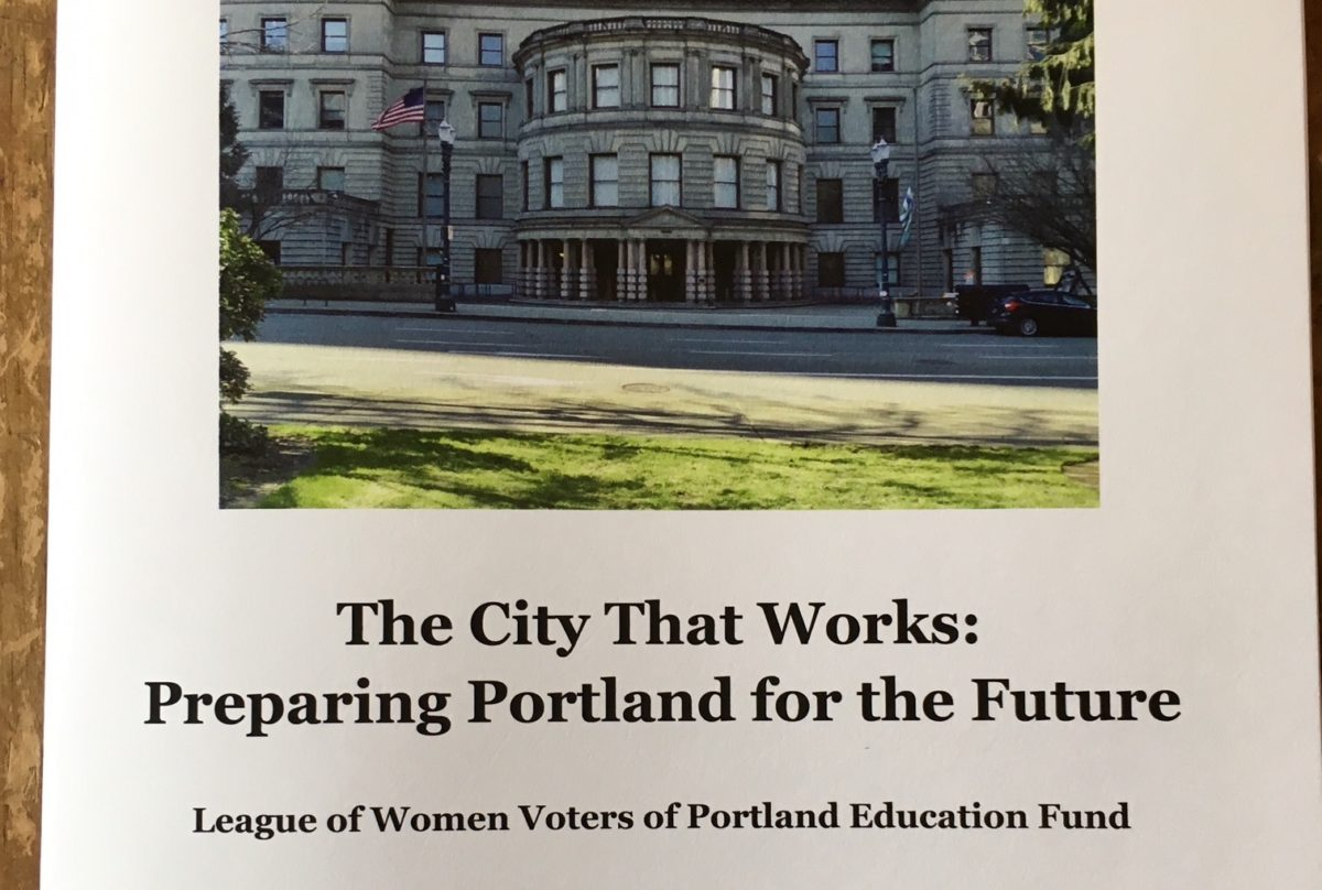 Front cover of a LWVPDX study on city government